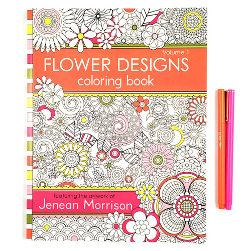 Flower Designs Coloring Book Flowerv1