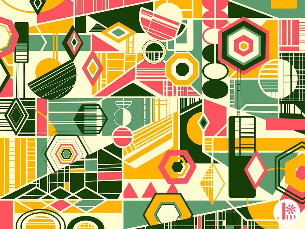 Jenean Morrison Pattern, iPad, Adobe Line, Adobe Ink & Slide, 2014.