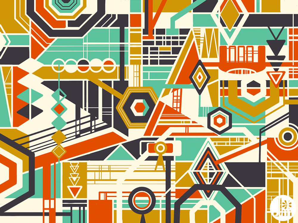 Jenean Morrison Pattern, iPad, Adobe Line, Adobe Ink & Slide, 2014.