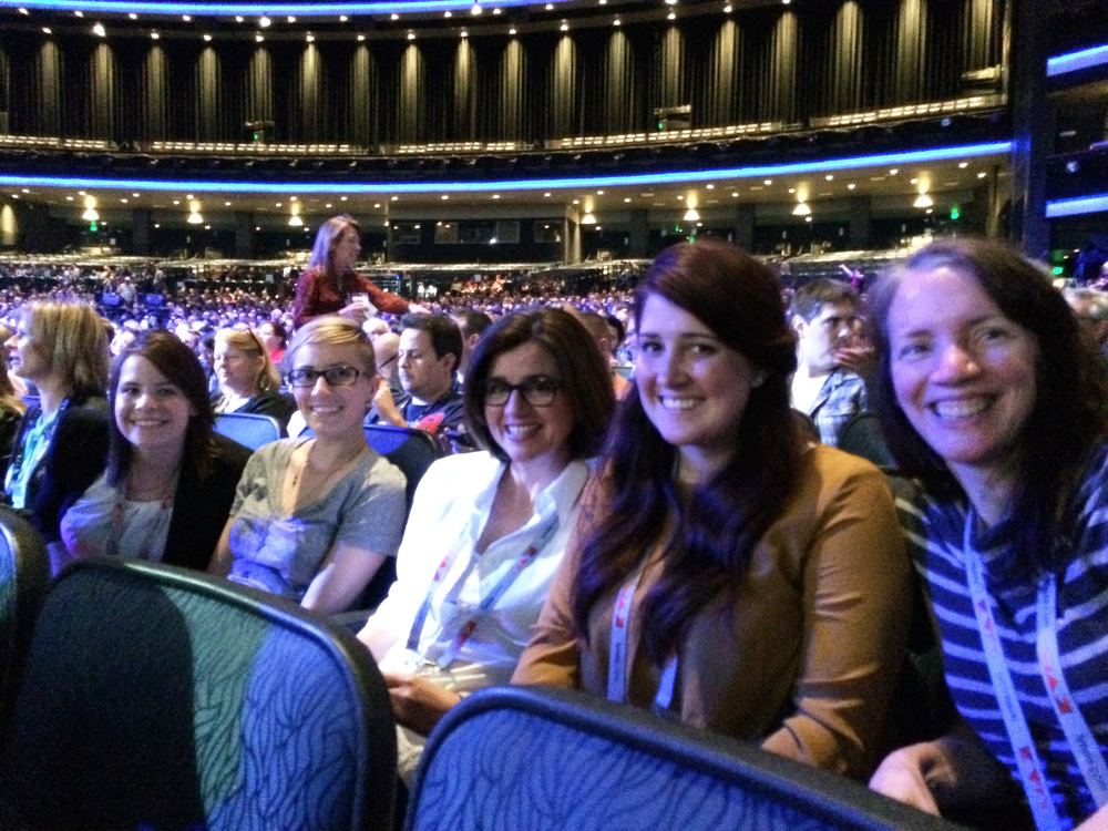 At Max Sneaks with fellow insiders Sarah and Rachel, and our Adobe contacts Christine and Darrian.