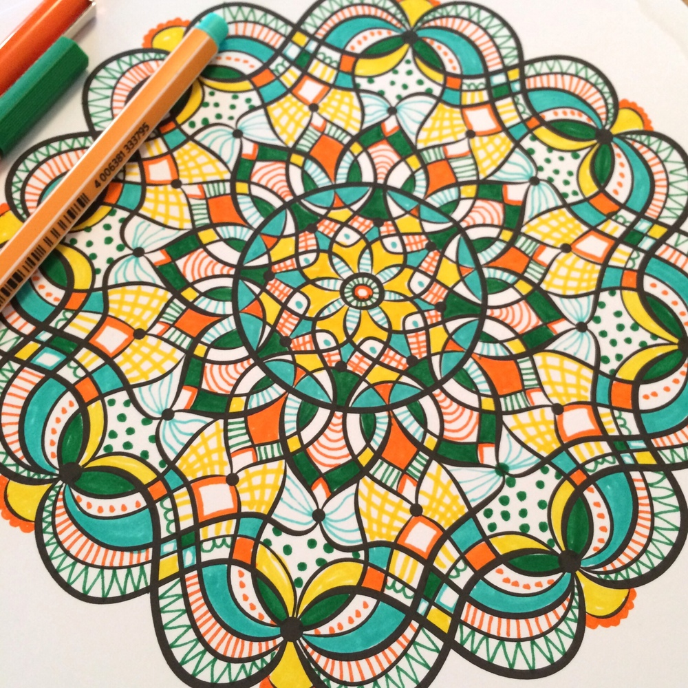 From Hand-Drawn Mandalas, Volume 1.