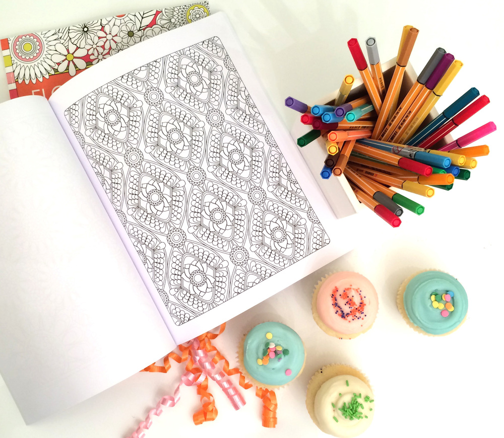 Jenean Morrison Coloring Book and Cupcakes