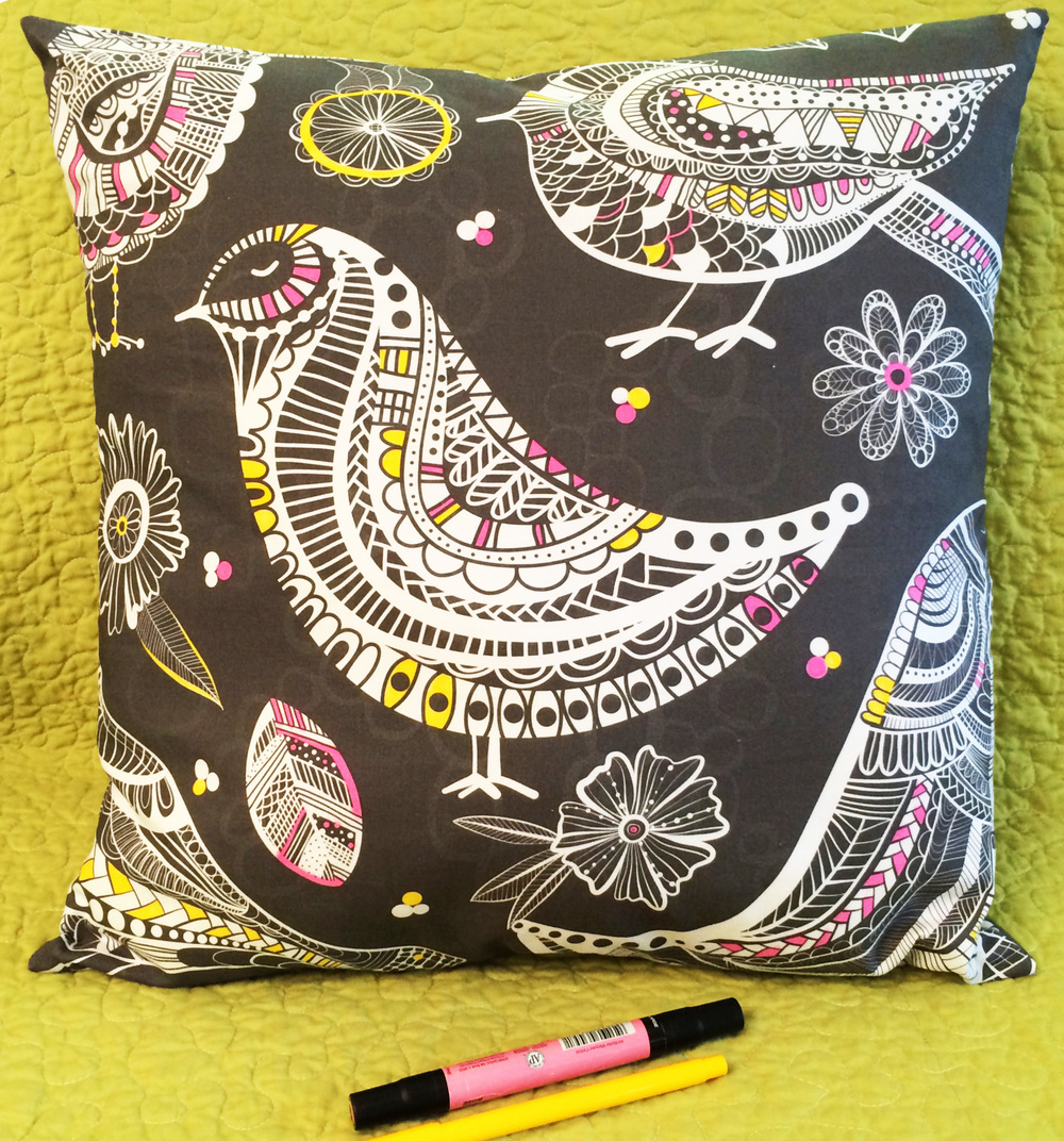 Jenean Morrison Coloring Pillow