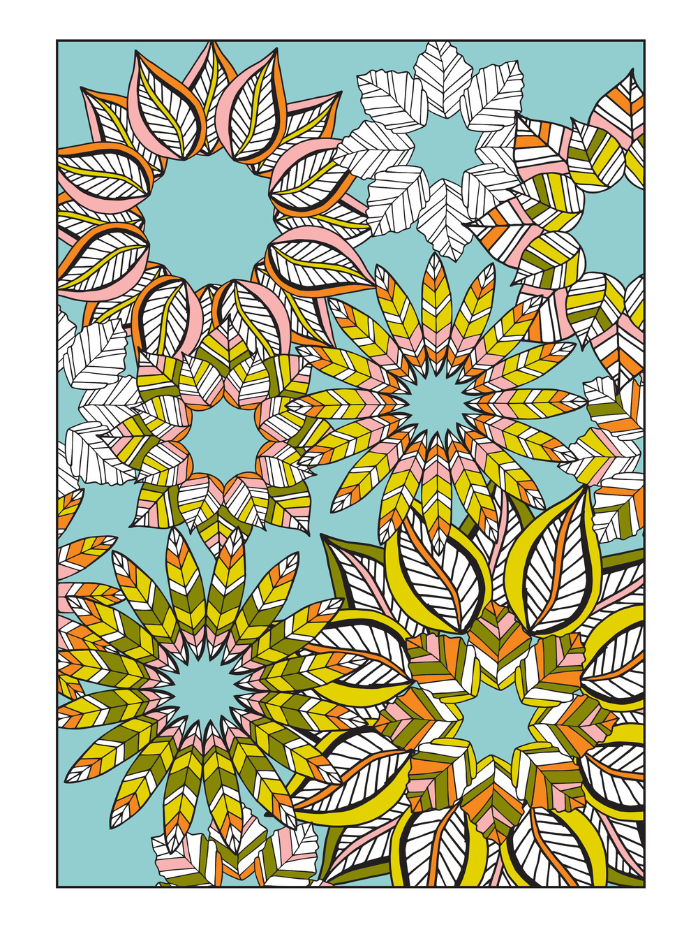 Flower Designs Coloring Book by Jenean Morrison