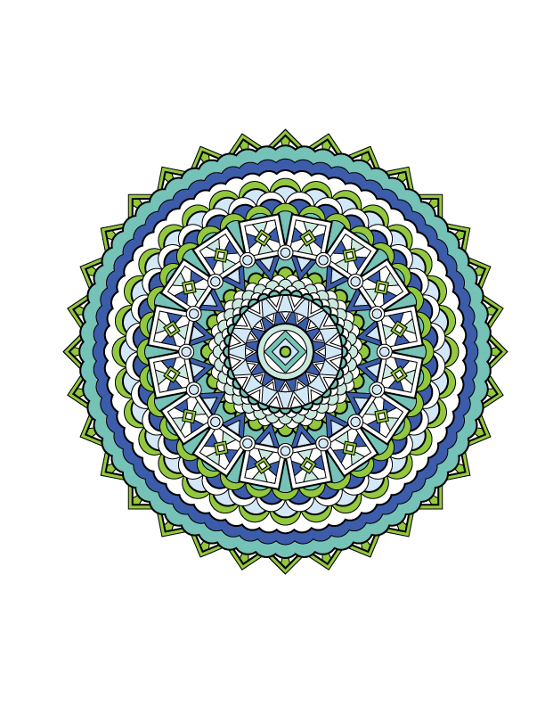 Jenean Morrison's Mandala Design Coloring Book, Volume 1