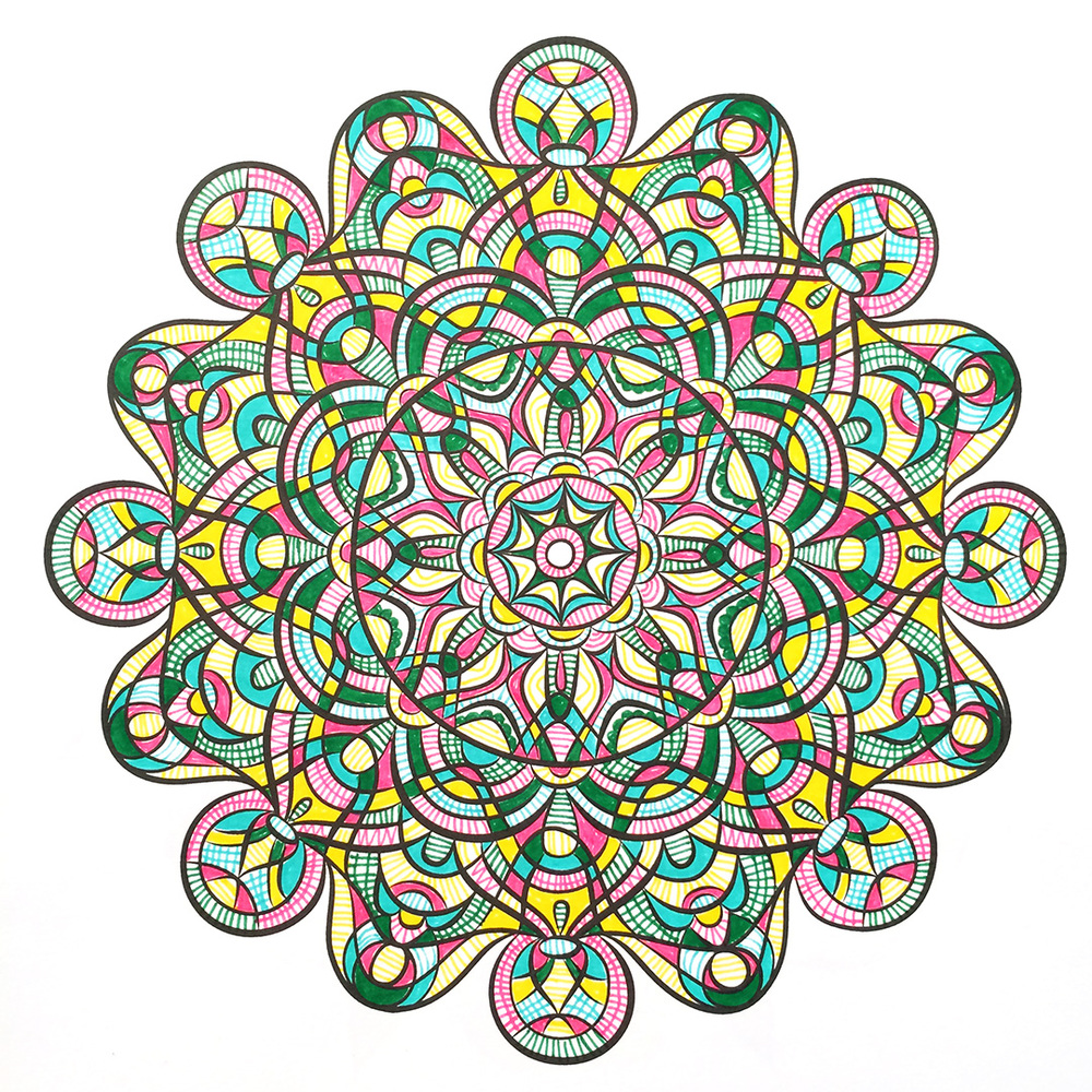 Jenean Morrison's Hand-Drawn Mandalas Coloring Book