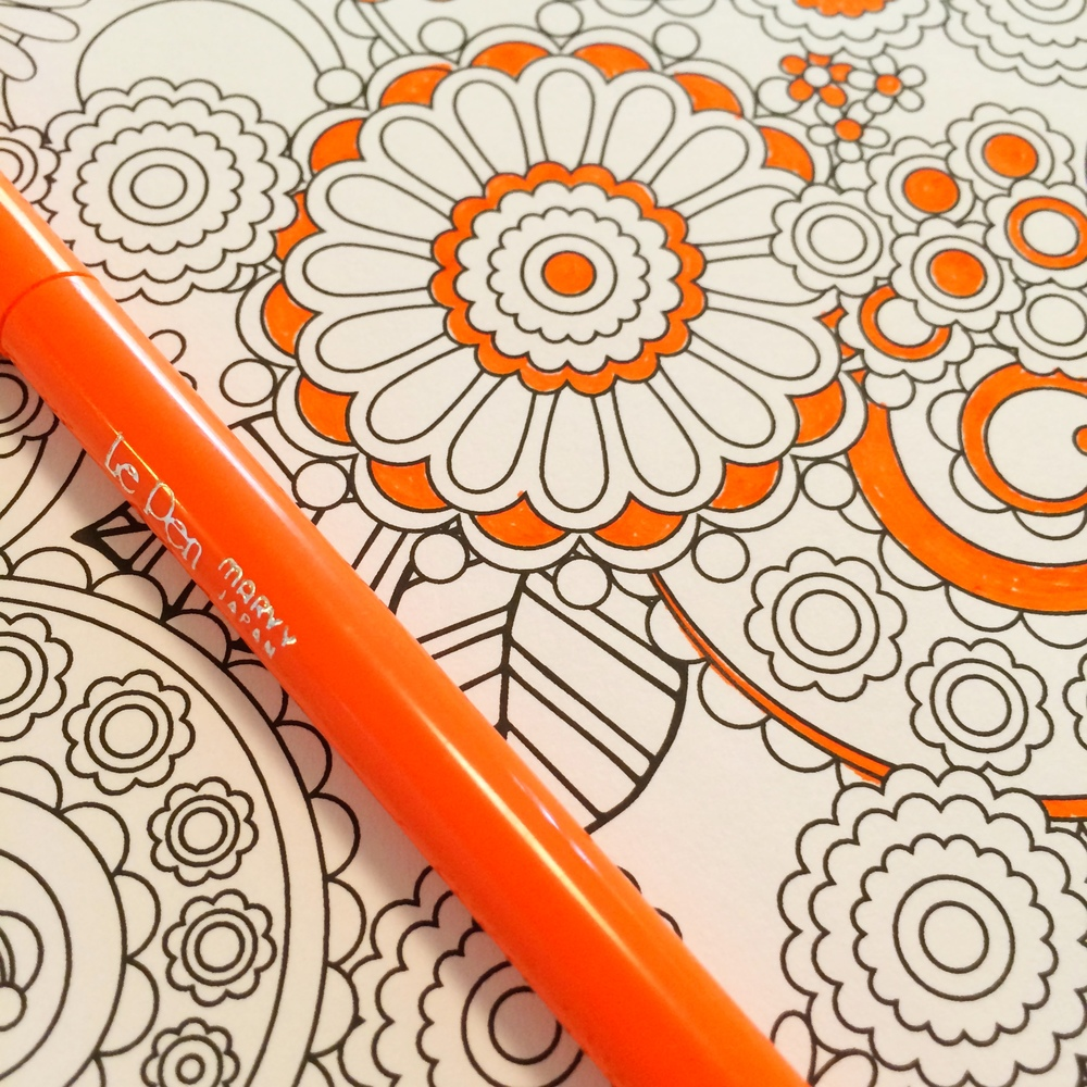 Galerry flower designs coloring book