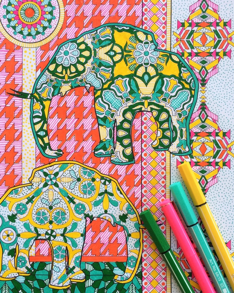 2016 Coloring Calendar + The Super Awesome Coloring Book — Jenean ...