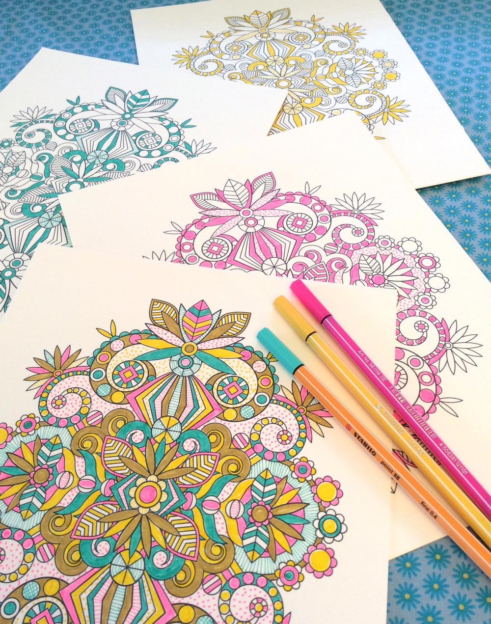 Coloring Page by Jenean Morrison for Design Mom