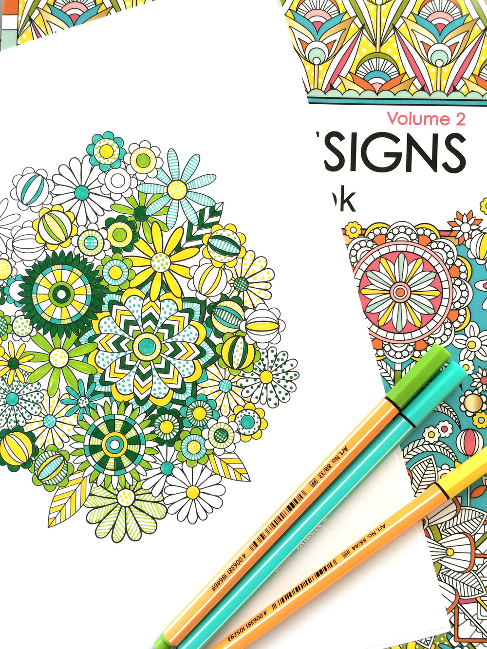 Flower Designs Coloring Book , Volume 2 by Jenean Morrison