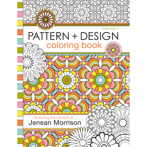 flower designs coloring book volume 1 pd1coverfebruary2016squarejpg 0 - Pattern Coloring Books