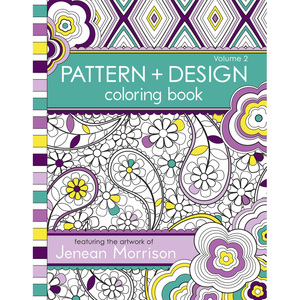 Pattern Design Coloring Book Volume 1 Pdvol2square