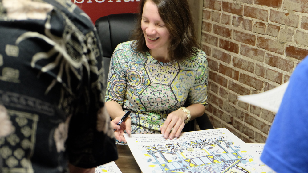 Jenean Morrison Cooper Young Festival Poster Signing 2016