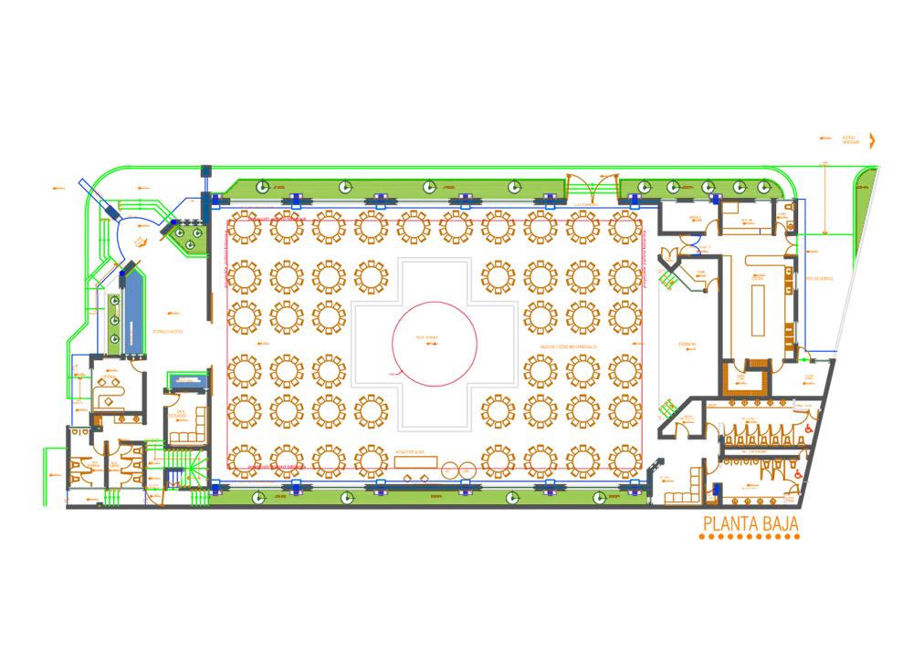 9 salon de eventos suklaa dec arquitectos - Plantas para salones modernos ...