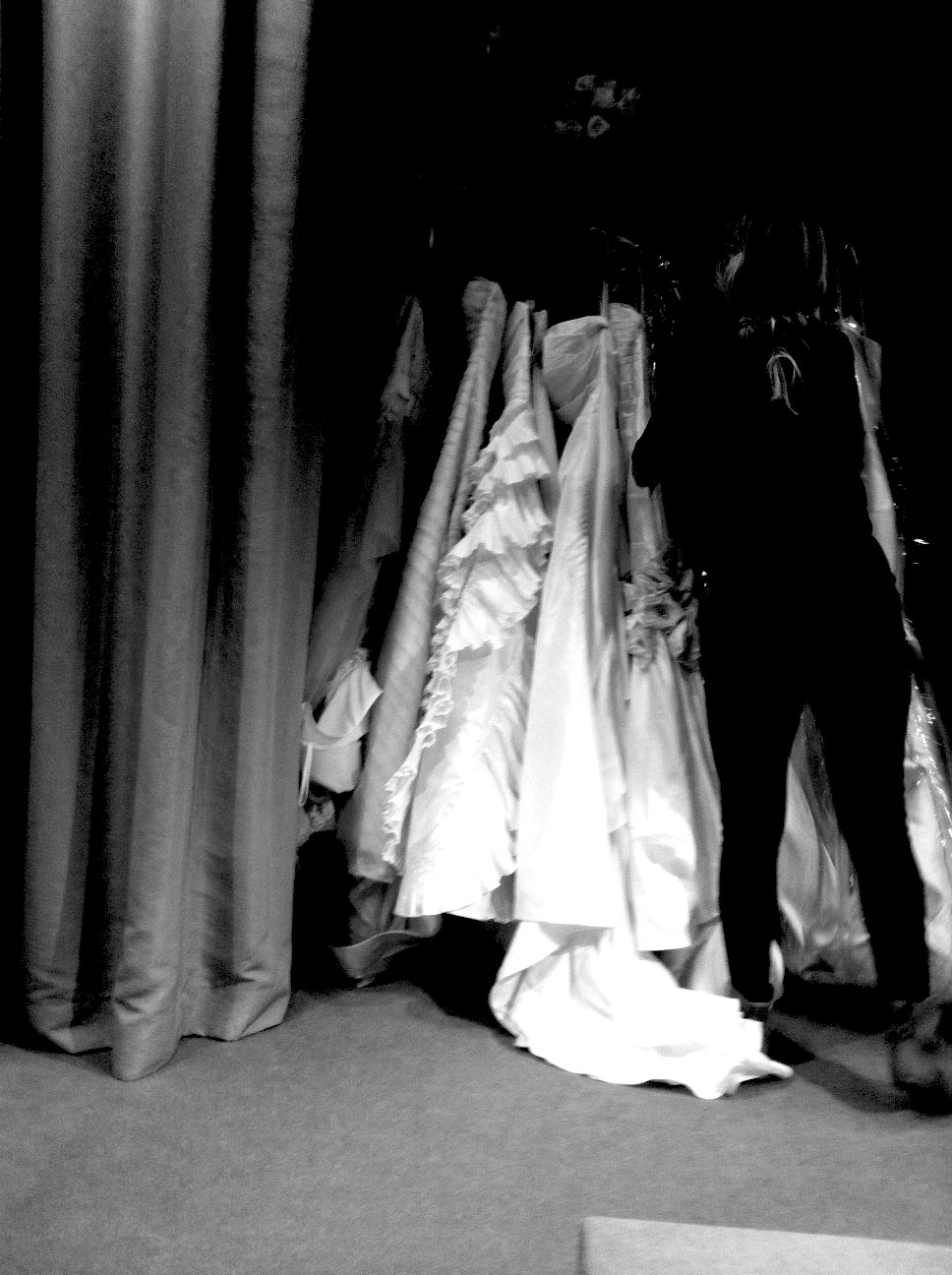 6 Dresses waiting for try outs.......