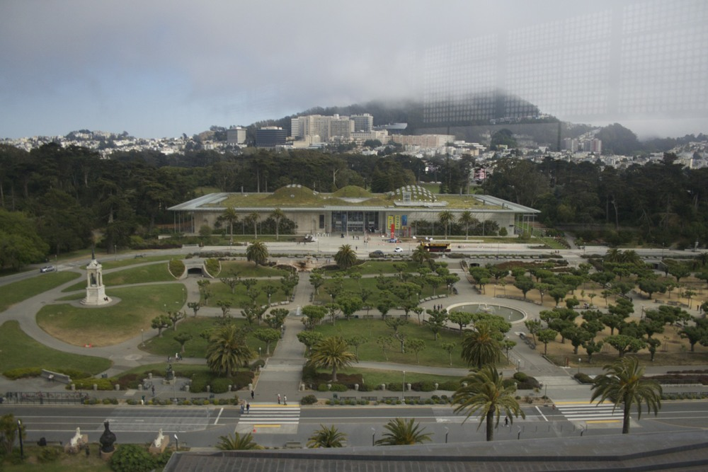 North west view of the California Academy of Science from the De Young's Museum watchtower.
