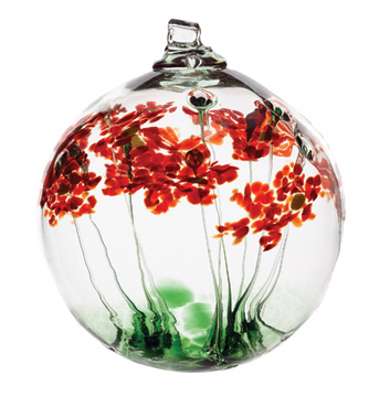 "Enfield PharmaChoice donated two gorgeous 6"" Glass Blossom Globes handcrafted by Kitras Art Glass. Each globe comes with its own display stand. Retails for $45 (plus HST)"