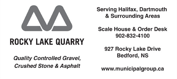 Rocky Lake Quarry  has donated a load of gravel worth $250.