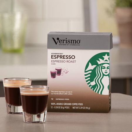 Delicious Starbuck's Coffee Packs to go along with your Verismo Coffee Maker!
