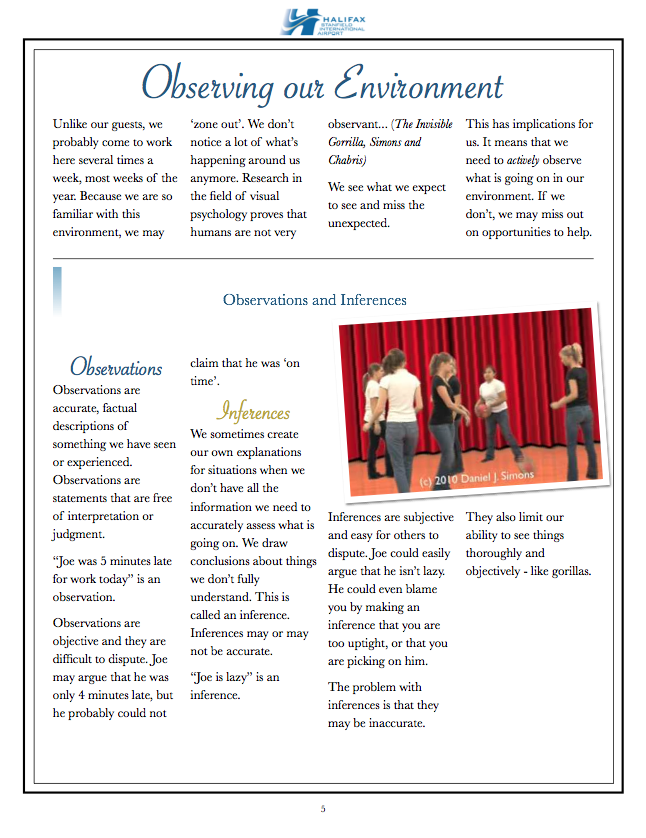 Page 5: The Stanfield Way Workbook