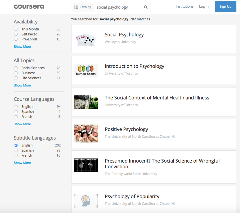 You know the drill... Just click on the image above to access Coursera's courses.