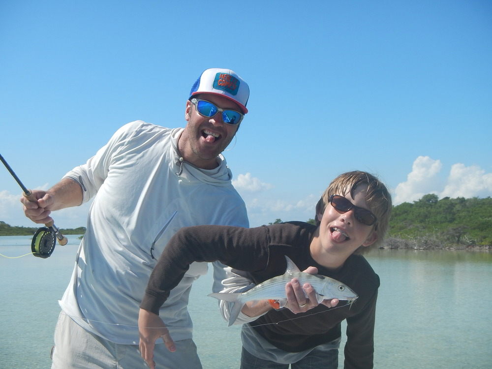 Family fishing days in San Pedro, Belize with Tres Pescados Fly Shop