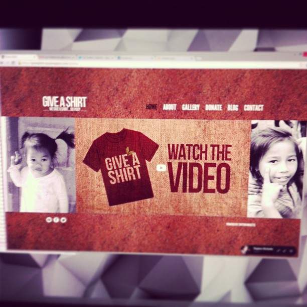 New interactive layout for giveashirt.ca coming soon!
