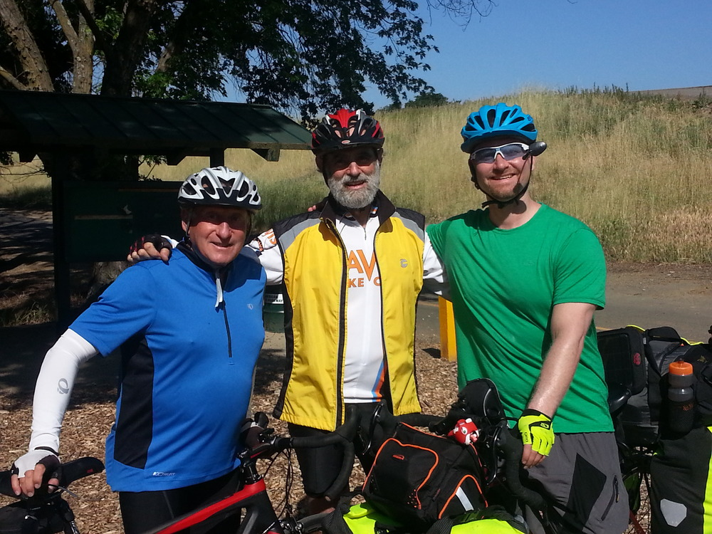 My new friends Bill and Stu from the Davis Bike Club