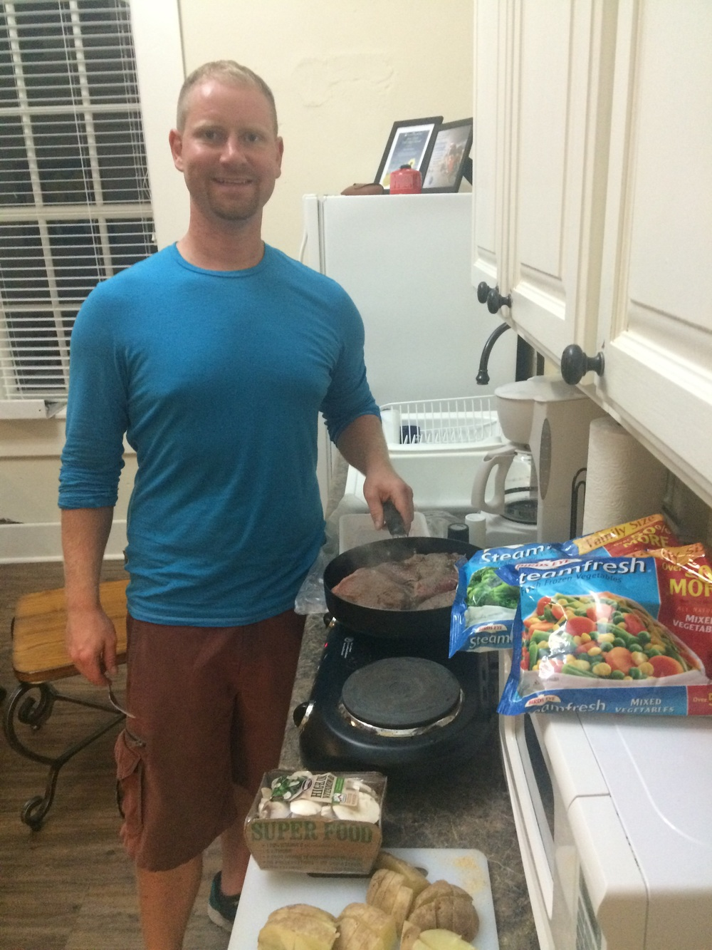 Cooking at Al's Place