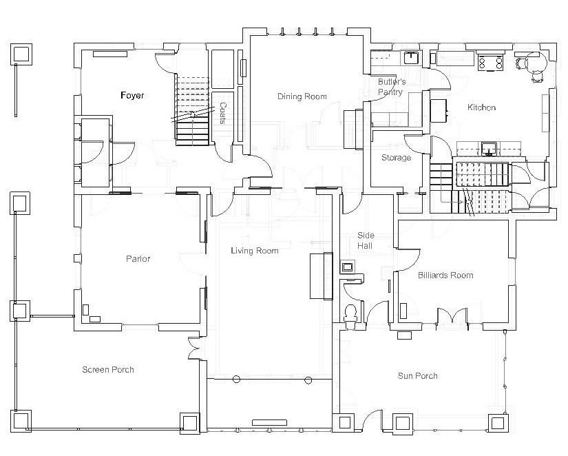 Best Residence, Original Configuration, First Floor