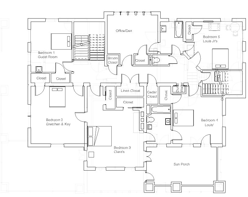 Best Residence, Original Configuration, Second Floor