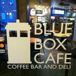 blue box cafe door image