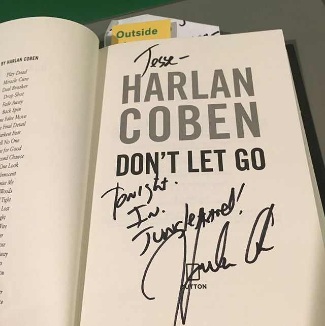 A great night meeting the great Harlan Coben!