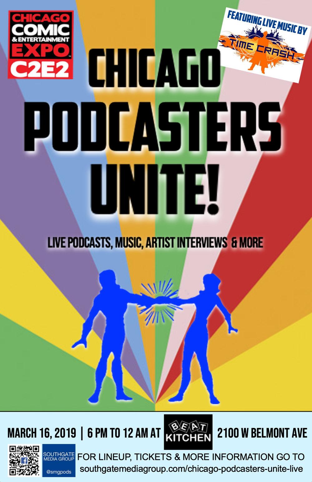 c2e2 Blue Chicago Podcasters Unite 11X17 POSTER C.jpg