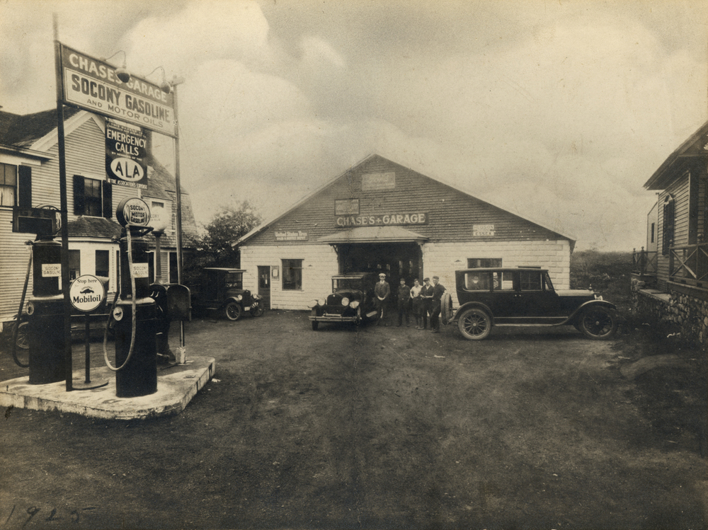 1925 - Chases pumps gas, services vehicles and sells automobiles