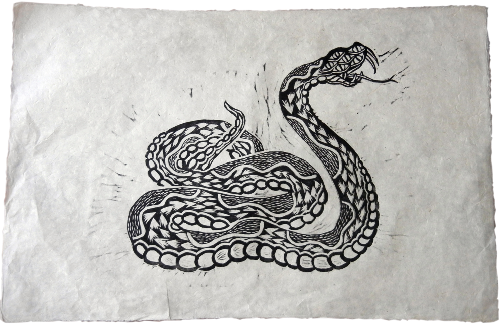 Jake Cassevoy Untitled #1 Woodblock print $100.