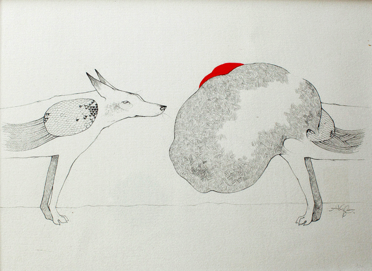 Captive Alyssa Grenning Graphite & Ink