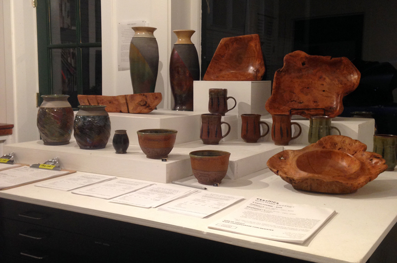 Jameson Burke - Ceramics & Pete Fischer - Burl Wood Vessels