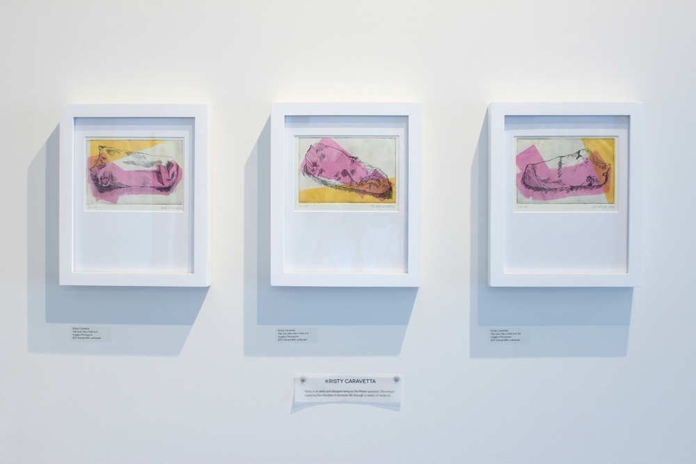 Kristy Cavaretta  Sock Studies  Intaglio Etching & Monoprint