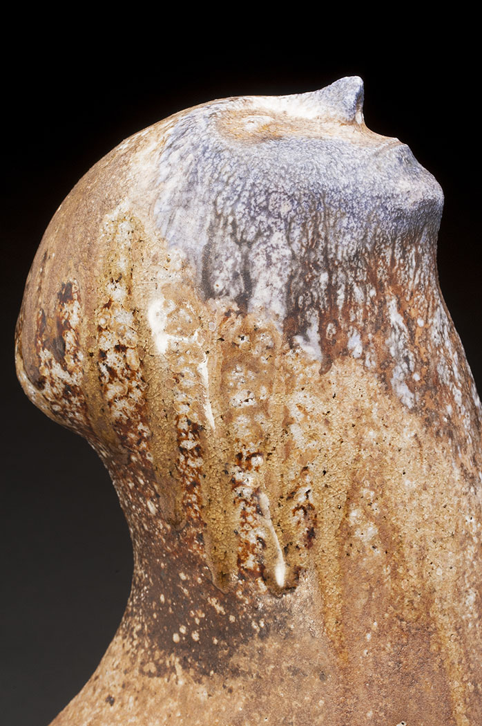 "Belinda Bodnar  Sound of Rain   Wood-fired stoneware 18x12x12"""