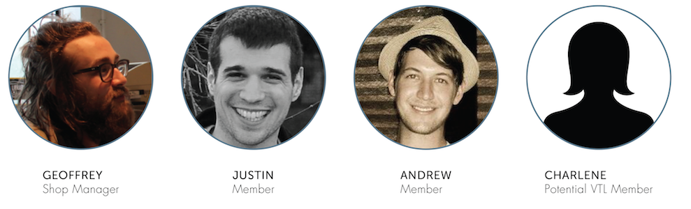 Four participants that represented the primary and secondary audience of the Vancouver Tool Library website.