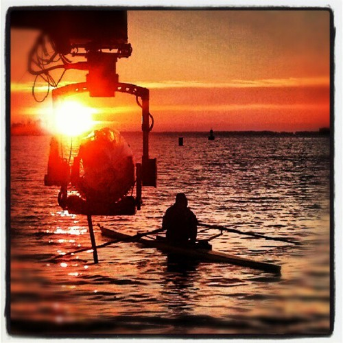 Filming On the Severn River
