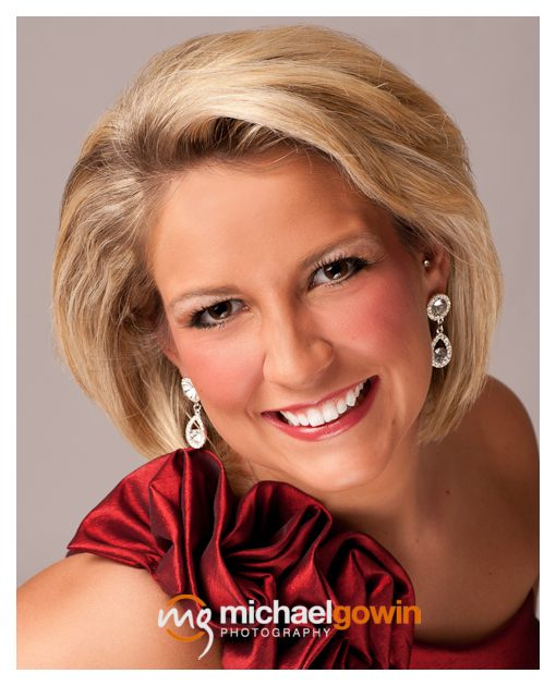 Sabra Boyd - Springfield, Illinois, pageant headshot photography by Michael Gowin