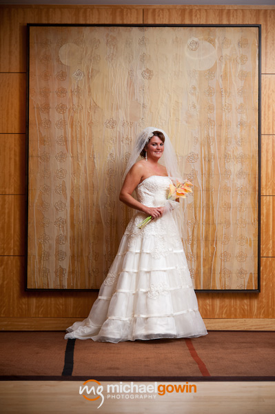 Portrait of bride - Westin Hotel - Busch Stadium wedding - St. Louis, Missouri - Michael Gowin Photography