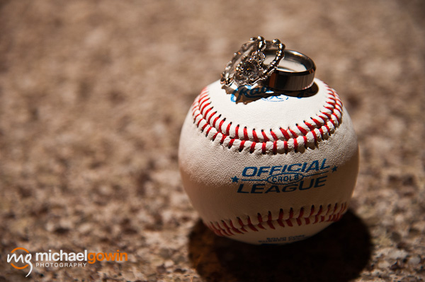 Wedding rings and baseball - Busch Stadium wedding - St. Louis, Missouri - Michael Gowin Photography
