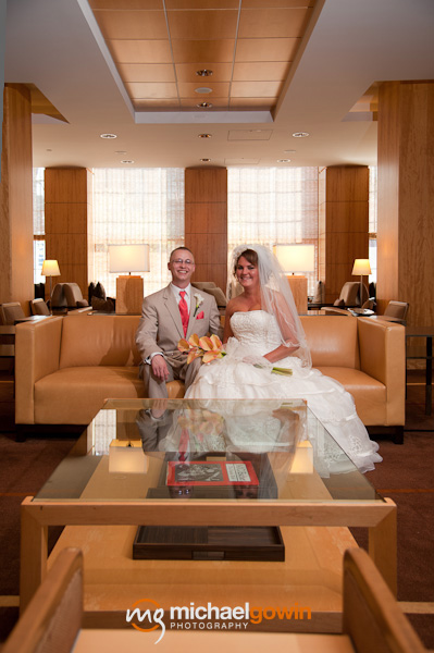 Portrait of bride and groom - Westin Hotel -  Busch Stadium wedding - St. Louis, Missouri - Michael Gowin Photography