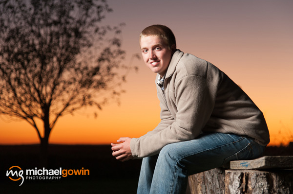 Brent, Lincoln Community High School, senior photographs - Michael Gowin Photography - Lincoln, Illinois, portrait photographer - senior pictures