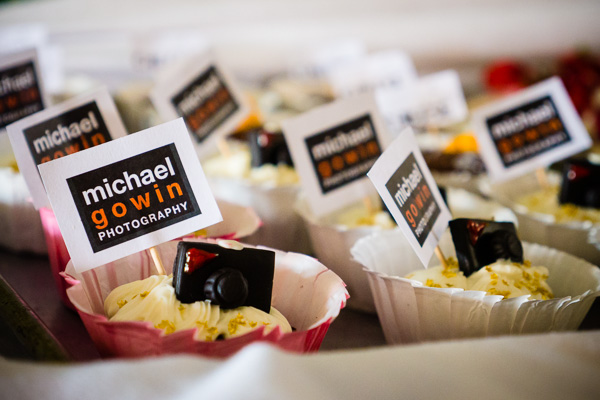 Specialty cupcakes from Kim Forman (Vintage Fare) for Michael Gowin Photography open house, July 16, 2013.