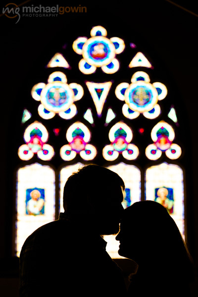 Zach and Betsy, engagement photos at Lincoln Christian Church :: Michael Gowin Photography, Lincoln, IL