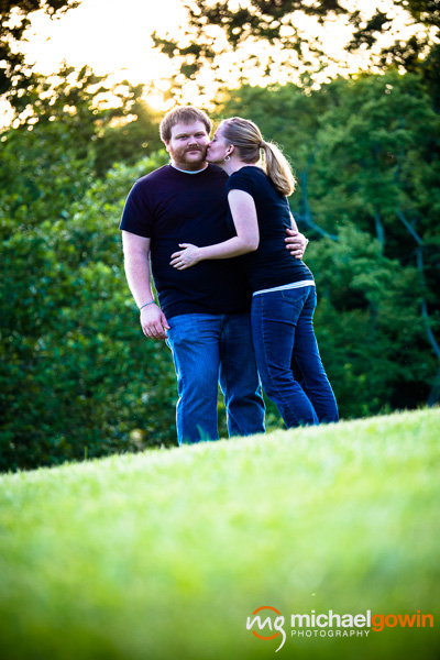 Zach and Betsy, engagement photos at Kickapoo Creek Park :: Michael Gowin Photography, Lincoln, IL